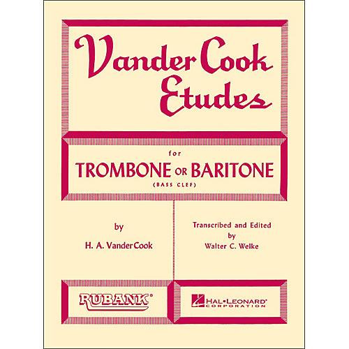 Hal Leonard Rubank Vandercook Etudes for Trombone Or Baritone