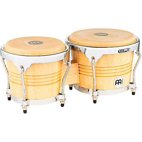 Meinl Rubber Wood Bongos with Chrome Hardware