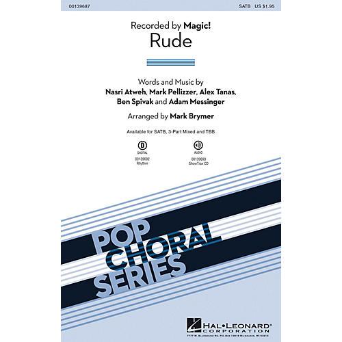 Hal Leonard Rude TBB by Magic! Arranged by Mark Brymer
