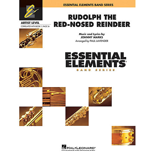 Hal Leonard Rudolph, the Red-Nosed Reindeer Concert Band Level 1 Arranged by Paul Lavender
