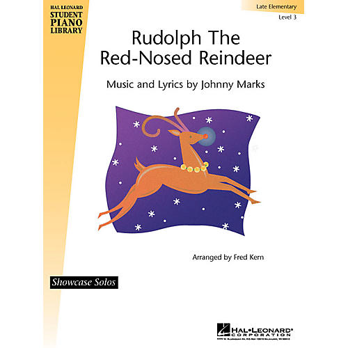 Hal Leonard Rudolph the Red-Nosed Reindeer Piano Library Series by Johnny Marks (Level Late Elem)