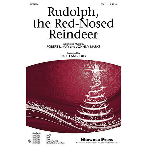 Shawnee Press Rudolph, the Red-Nosed Reindeer Studiotrax CD Arranged by Paul Langford