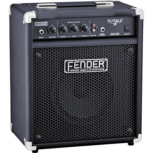 fender rumble 15 v2 15w 1x8 bass combo amp musician 39 s friend. Black Bedroom Furniture Sets. Home Design Ideas