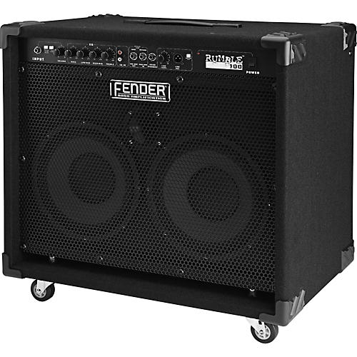 fender rumble series 100 210 100 watt 2x10 bass combo amp musician 39 s friend. Black Bedroom Furniture Sets. Home Design Ideas