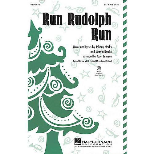 Hal Leonard Run Rudolph Run 2-Part by Chuck Berry Arranged by Roger Emerson