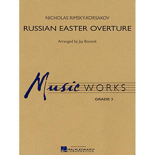 Hal Leonard Russian Easter Overture Concert Band Level 3 Arranged by Jay Bocook