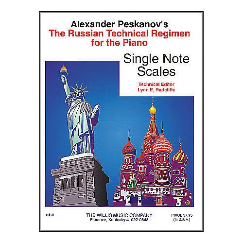 Willis Music Russian Technical Regimen Volume 1 by Alexander Peskanov