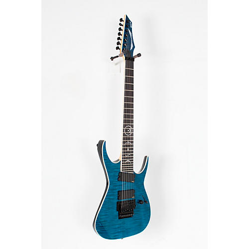 open box dean rusty cooley 7 string flame top electric guitar transparent blue 190839647542. Black Bedroom Furniture Sets. Home Design Ideas