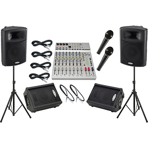 Alesis S-12 / Harbinger APS15 Mains and Monitors Package