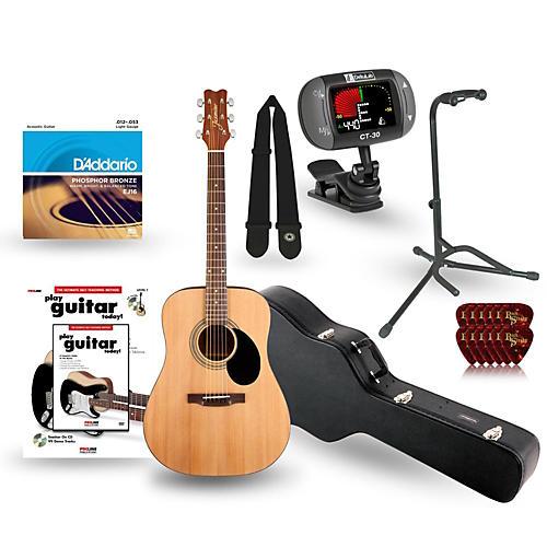 Jasmine S-35 Dreadnought Acoustic Guitar Deluxe Bundle