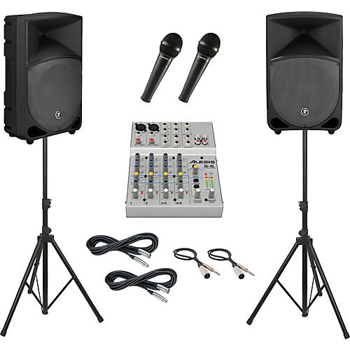 Alesis S-6 / Mackie Thump TH-12A PA Package