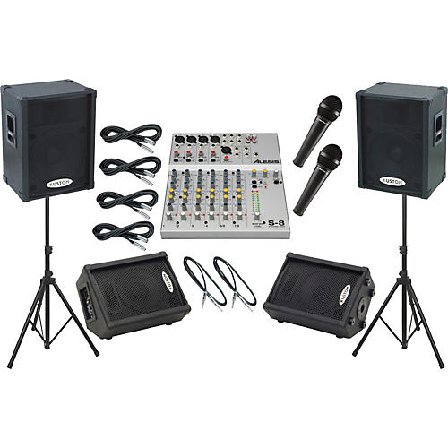 Alesis S-8 / Kustom KPC15P Mains and Monitors Package