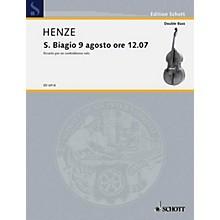 Schott S. Biagio 9 Agosto Ore 1207 (Double Bass Solo) Schott Series