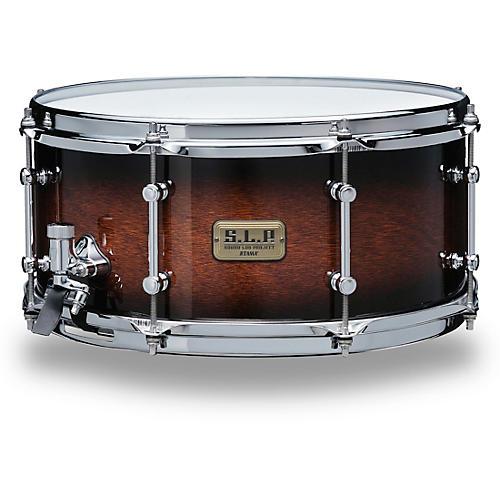 TAMA S.L.P. Dynamic Kapur Snare Drum 14 x 6.5 in. Black Kapur Burst
