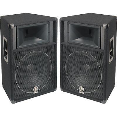 """Yamaha S115V 2-Way 15"""" Club Series V Speaker Pair"""
