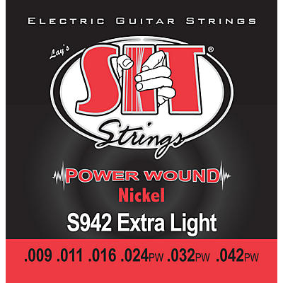 SIT Strings S942 Extra Light Power Wound Nickel Electric Guitar Strings