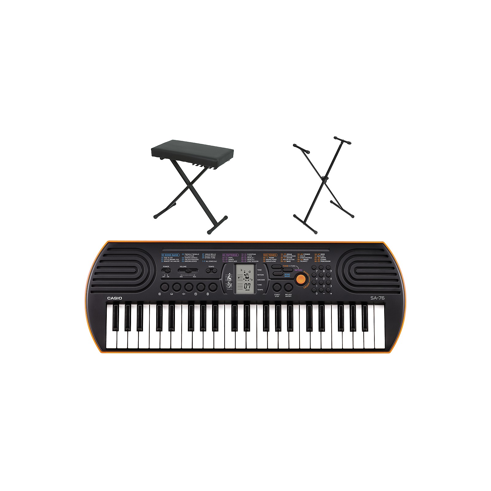 Casio SA-76 Keyboard with Stand and Bench