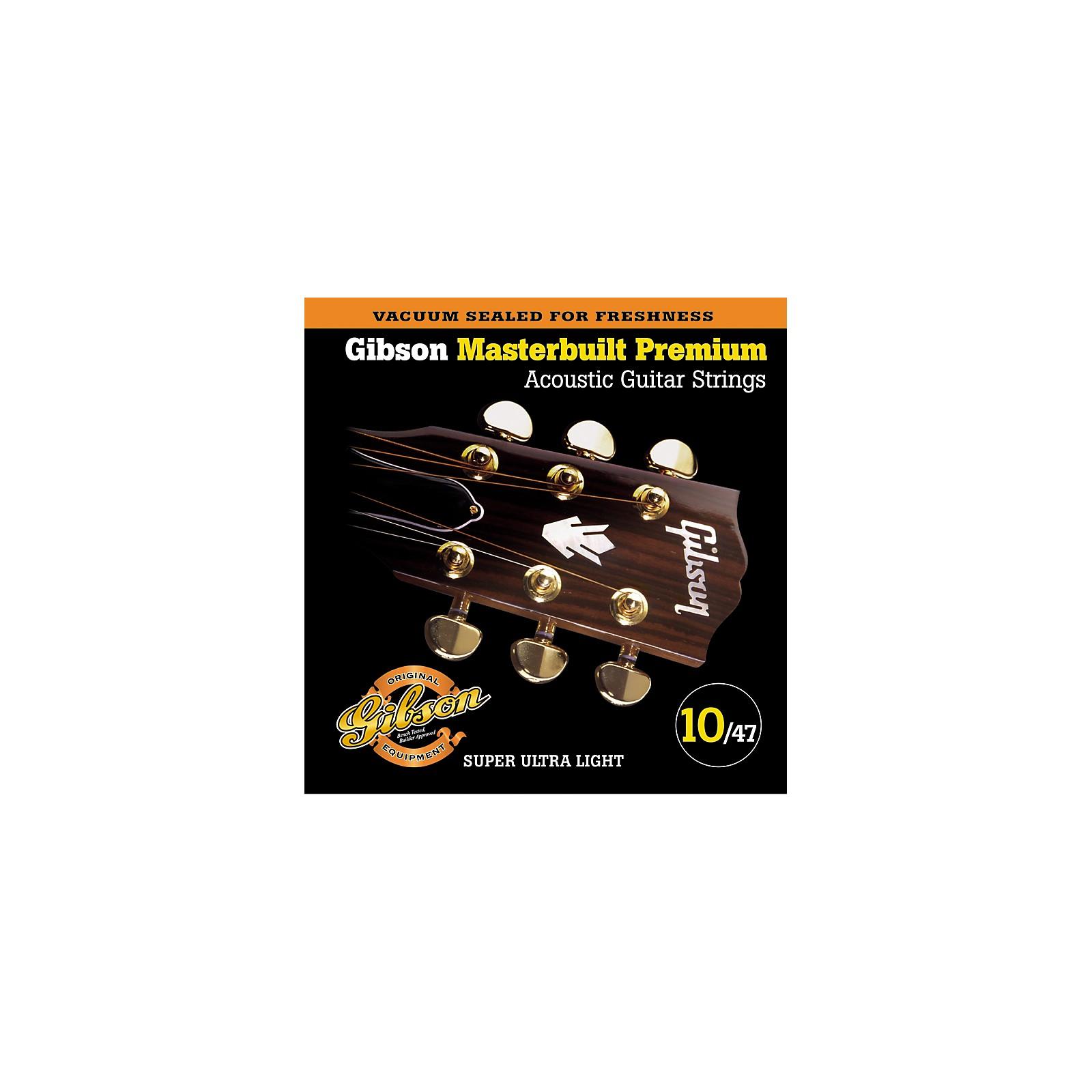 Gibson SAG-MB10 Masterbuilt Premium Phosphor Bronze Acoustic Strings