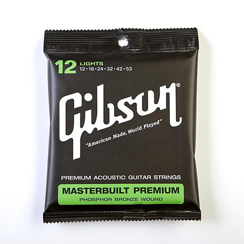 Gibson SAG-MB12 Masterbuilt Premium Phosphor Bronze Acoustic Guitar Strings