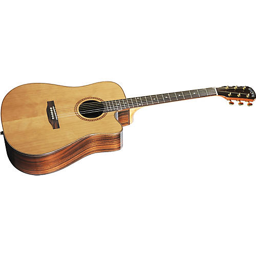 Great Divide SBDC-24CE-G Dreadnought Solid Cedar Top Acoustic - Electric Cutaway Guitar