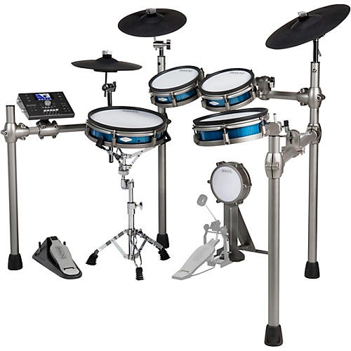Simmons SD1200 Electronic Drum Kit With Mesh Pads Condition 2 - Blemished Blue Metallic 194744189777