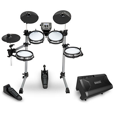 Simmons SD350 Electronic Drum Kit With Mesh Pads and DA2108  Drum Set Monitor