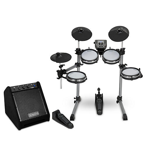 Simmons SD350 Electronic Drum Kit With Mesh Pads and DA25 Drum Set Monitor