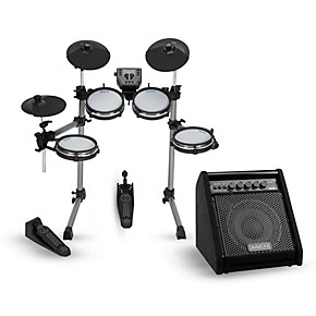 simmons sd350 electronic drum kit with mesh pads and simmons da50b bluetooth monitor musician. Black Bedroom Furniture Sets. Home Design Ideas