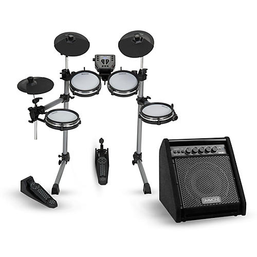 Simmons SD350 Electronic Drum Kit With Mesh Pads and Simmons DA50B Bluetooth Monitor