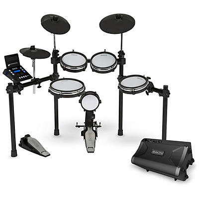 Simmons SD600 Electronic Drum Kit With Mesh Pads, Bluetooth and DA2108  Drum Set Monitor