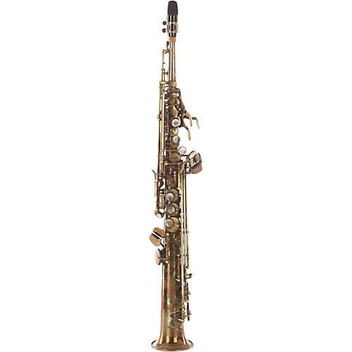 Sax Dakota SDSS-XR 72 Professional Straight Soprano Saxophone Raw Bronze