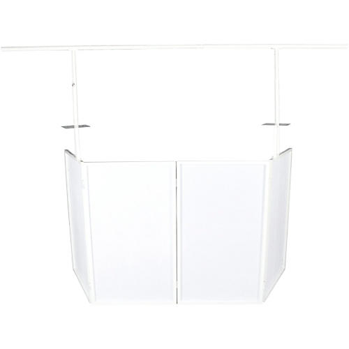Novopro SDX V2 Portable DJ Booth w/ Lighting Bar, Shelves and Bags (White)