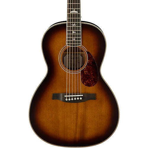 PRS SE P20 Parlor with All Mahogany Construction and Satin Finish Acoustic Guitar Tobacco Sunburst