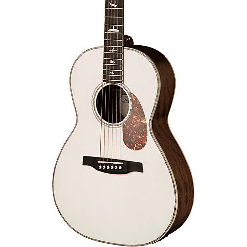 PRS SE P20E Parlor with All-Mahogany Construction Fishman GT1 Pickup System and Satin Finish Acoustic Electric Guitar Antique White