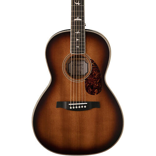 PRS SE P20E Parlor with All-Mahogany Construction Fishman GT1 Pickup System and Satin Finish Acoustic Electric Guitar Tobacco Sunburst