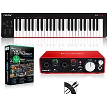 SE49 49-Key USB MIDI Keyboard Controller Packages Intermediate Virtual Instrument Package