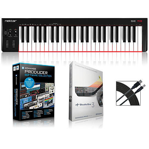 Nektar SE49 49-Key USB MIDI Keyboard Controller Packages Production Package