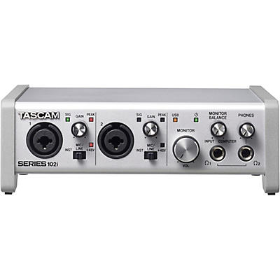 Tascam SERIES 102i 10-In/2-Out USB Audio/MIDI Interface