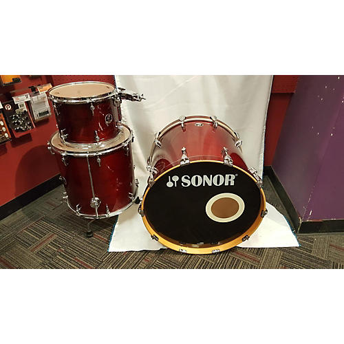 SONOR SESSION 3 PIECE Drum Kit Wine Red