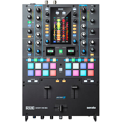 RANE SEVENTY-TWO MKII Battle-Ready 2-Channel DJ Mixer with Multi-Touch Screen and Serato DJ