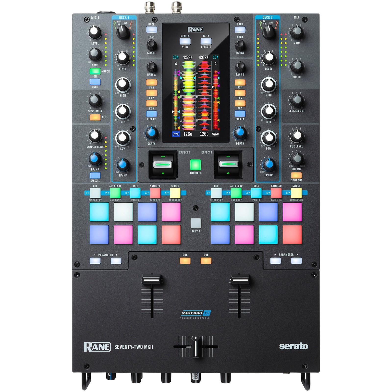 RANE DJ SEVENTY-TWO MKII Battle-Ready 2-Channel DJ Mixer with Multi-Touch Screen and Serato DJ