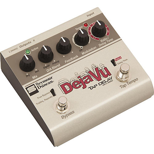 Seymour Duncan SFX-10 Deja Vu Tap Delay With BBD Guitar Effects Pedal