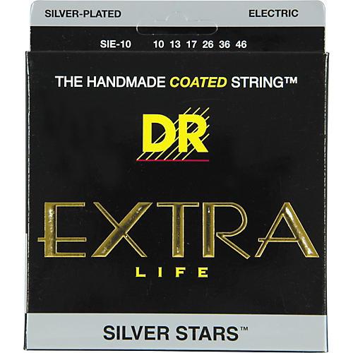 DR Strings SIE-10 Silver Stars Coated Medium Electric Guitar Strings