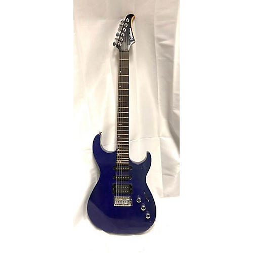 Silvertone SIK Solid Body Electric Guitar Blue
