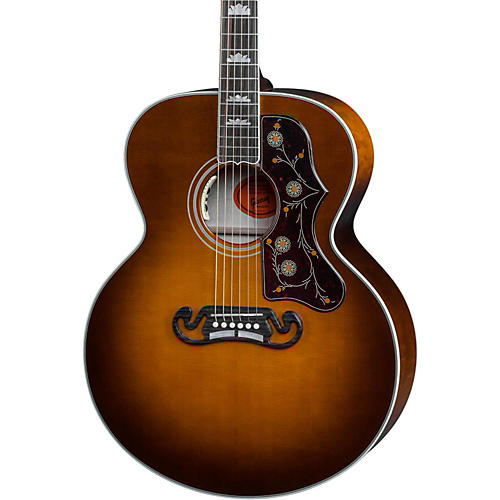 gibson sj 200 amber quilt acoustic electric guitar musician 39 s friend. Black Bedroom Furniture Sets. Home Design Ideas