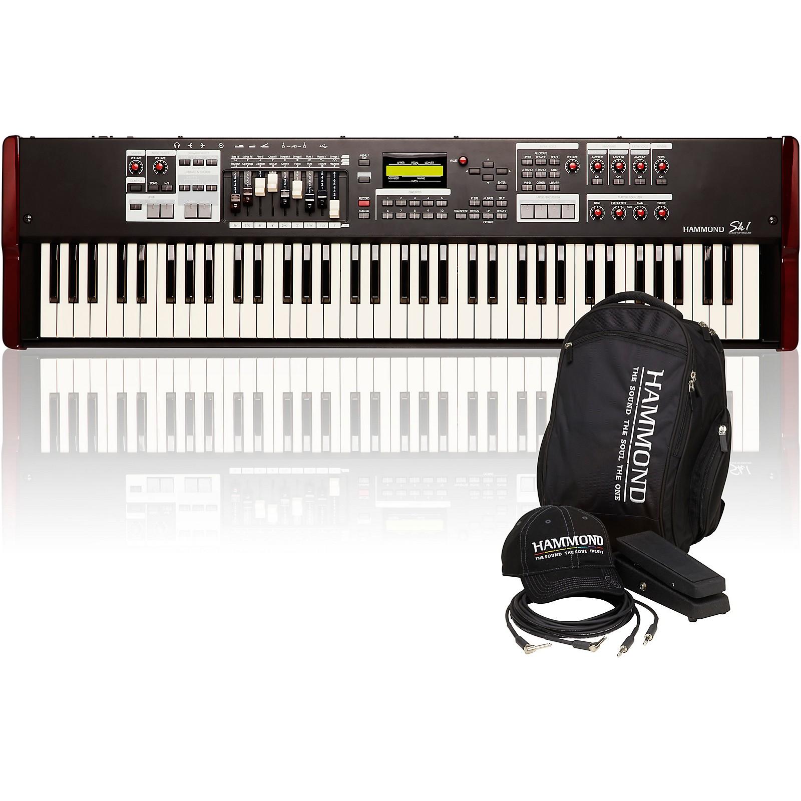 Hammond SK1-73 73 Key Digital Stage Keyboard and Organ with Keyboard Accessory Pack