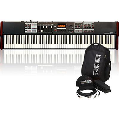 Hammond SK1-88 88-Key Digital Stage Keyboard and Organ with Keyboard Accessory Pack