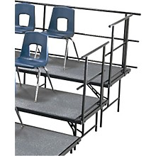 SLOPING GUARD RAILS FOR STANDING CHORAL RISERS FOR 2 LEVEL, 36 Inches High