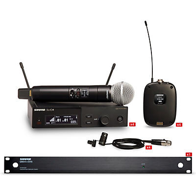 Shure SLXD 4 Combo System Wireless Bundle