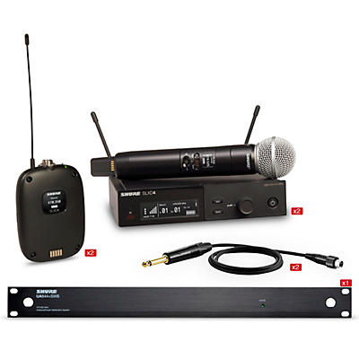 Shure SLXD Dual Body Pack and Microphone Bundle